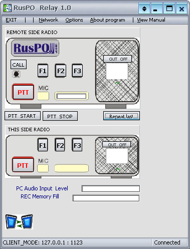Ruspo Relay 1 main dashboard